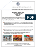 2014 San Diego Lifeguard Relay Invitation