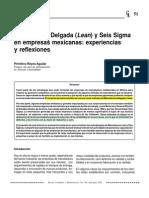 Manufactura Delgada y Seis Sigma ) en Empresas Mexicanas
