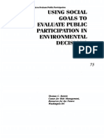 Using Social Goals to Evaluate Public Participation in Environmental Decisions