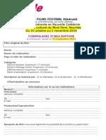 Formulaire d'inscription UFF Itinérant NC