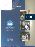 PEI y Manual de Convivencia Escolar Institutio Hebreo
