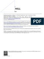 Capital Asset Prices a Theory of Market Equilibrium Under Conditions of Risk