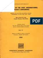 Proceeding of the First International Sanskrit Conference Year 1981 March 26th - 31st 1972 Vol. IV