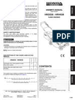 HRD536 - HRH536 Owners Manual