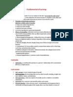 Fundamental of Nursing 4 Finals