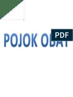 POJOK OBAT