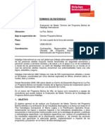 TDR's Evaluacion de Medio Término