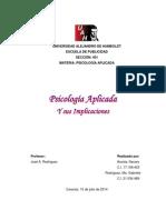 Psicologia Social Aplicada e Implicaciones