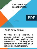 Sesion 10 Las Referencias Bibliograficas