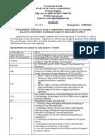 Notification SSC Western Region Draughtsman Jr Tech Asst Other Posts