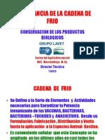 Importancia de La Cadena de Frio 110413