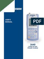 Manual 2640 BK Precision