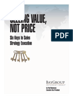 Selling Value Not Price Article