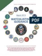 2013 Watchlist Guidance