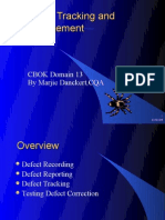Domain 13 - Defect Tracking and Management - Marjie Dankert