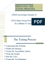 Domain 16 - Improving the Testing Process