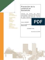 Prevencion de La Violencia en Guatemala ESP