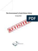 The Government's Water Policy - Revisted