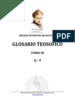 Glosario Letras q z