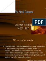 The Art of Gematria