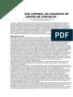 Fisiología Corneal en Usuarios De