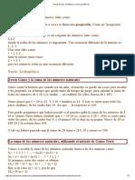 (Progresiones Aritméticas y Series Geométricas