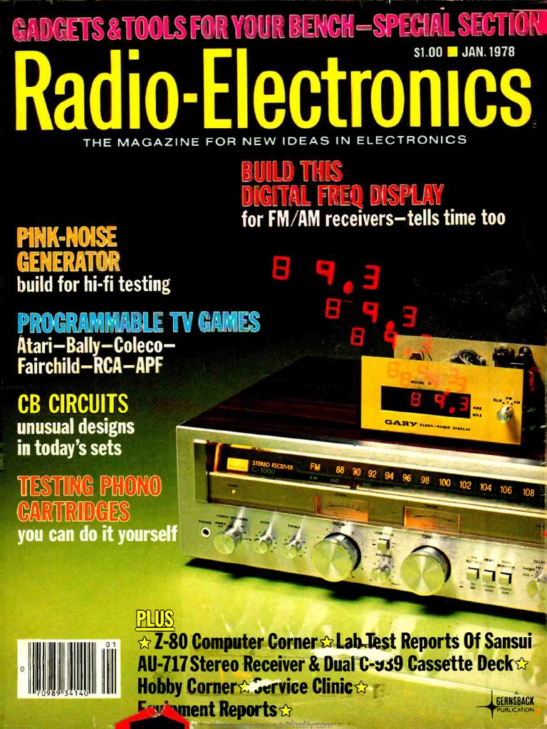 Re 1978 01 Television Telecommunication Fet Preamp With Tone Control By 2n3819