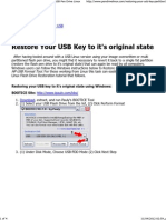 Restore Your USB Key to It's Original State _ USB Pen Drive Linux