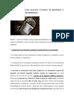 Jurisprudencia Cosa Juzgada vs Buena Fe Registral y Mejor Derecho de Propiedad