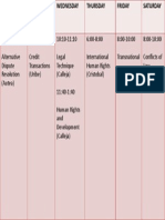 Schedule 2nd Term