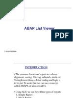 ALV Lists