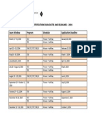 API 2014 Exam Schedule