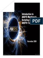 Ansys Workbench Scripting