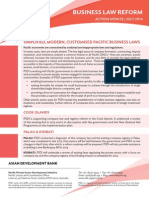 PSDI Business Law Reform - Action Update - July 2014