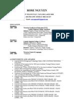 RoseN Resume. 2009