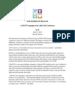 I AM ICW Press Release