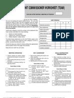 Unit Commissioner Worksheet