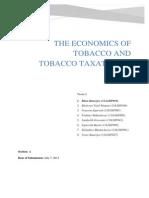 Team 3 Tobacco Taxation Economics Assignment