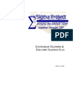Sample Training and Knowledge Transfer Plan