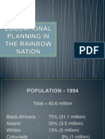 Educational Planning in the Rainbow Nation