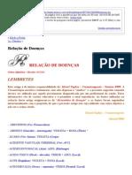 Relação de Doenças _ Portal Da Cromoterapia