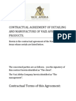 Vazi Afrika Contract With Letterhead