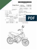 Mini-bike (US patent D689798)