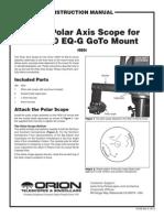 EQ8 polar scope instruction manual