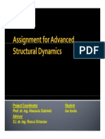Assignment for Advanced Structural Dynamics