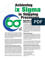 Parcel Shipping Six Sigma
