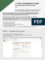Sims 3 Mac Guide