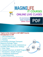 SAP ABAP Online Training - Imaginelife
