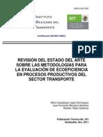 Estado Del Arte Metodología Para La Evaluación de Ecoeficiencia en Procesos Productivos Del Sector Transporte