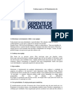 10 Mandamentos Do Gerente de Projetos